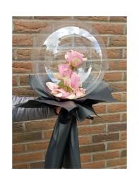 Şeffaf Balon İçinde pembe Güller